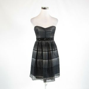 Black gray BCBG MAX AZRIA empire waist dress 2